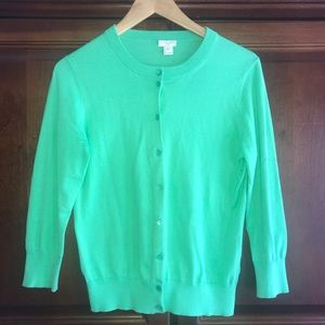 J.Crew Clare Mint Green Cardigan